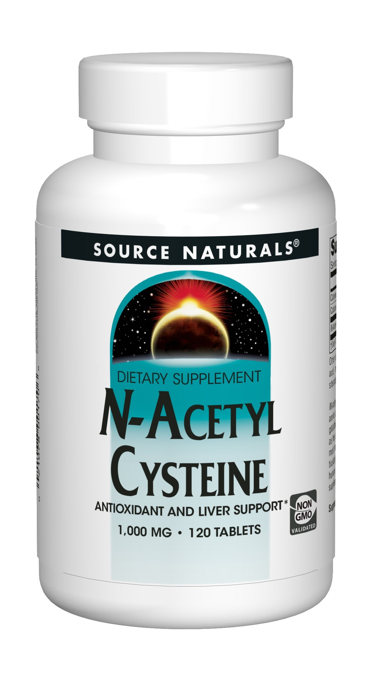 Source Naturals N-Acetyl Cysteine 1000mg Antioxidant - Pure Enzymes - 120 Tablets