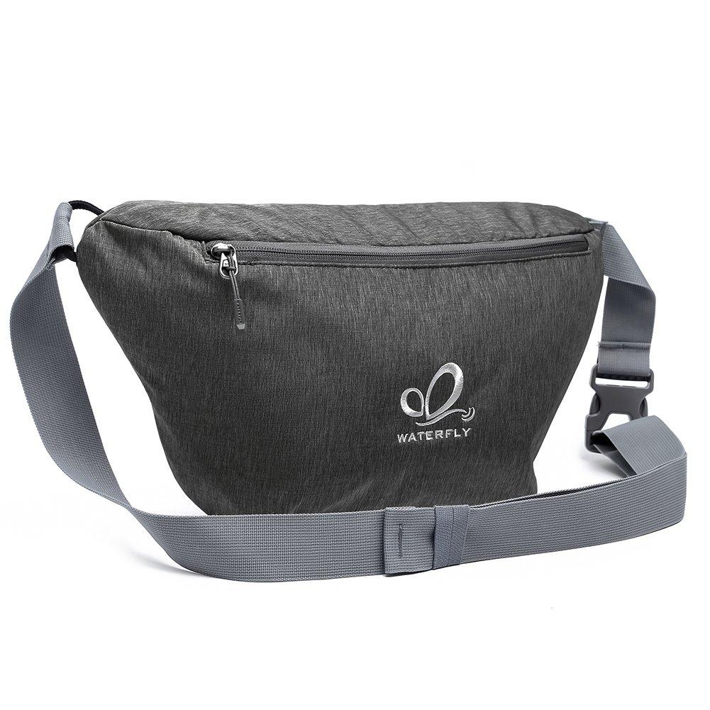 WATERFLY Sling Bag Ultra-light Chest Crossbody Bag Large Capacity for Men Women