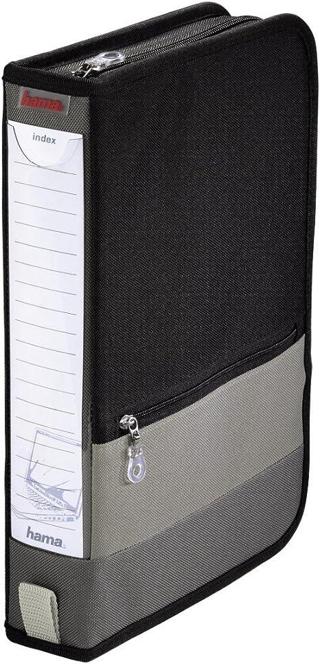 Hama Cd Aufbewahrung Tasche Mappe Schwarz Grau Computer Zubehör