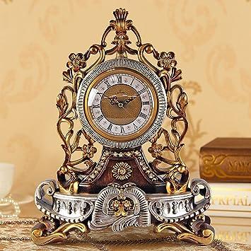 MOMO Reloj de Mesa Reloj de Estilo Europeo Reloj de Silencio ...