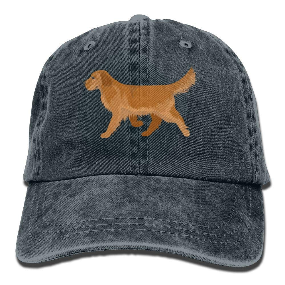 e73f1ffca5795 Amazon.com  SweetieP Cute Golden Retriever Denim Hat Adjustable Unisex  Plain Baseball Caps  Sports   Outdoors