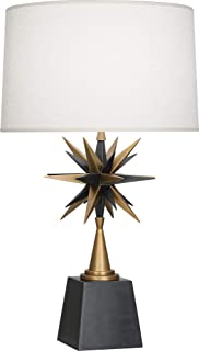 product image for Robert Abbey 1015 Cosmos - One Light Table Lamp, Deep Patina Bronze/Warm Brass Finish with Oyster Linen Fabric Shade