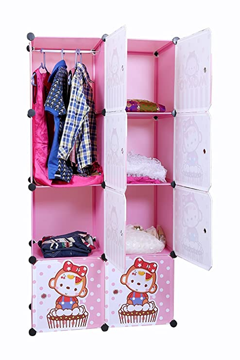 Buy Kurtzy Wardrobe Cupboard Closet Cabinet 8 Door Storage Organizer ...
