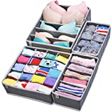 Amazon Price History for:Closet Underwear Organizer Drawer Divider 4 Set by MIUCOLOR for Underwear, Bras, Socks, Ties, Scarves, Grey