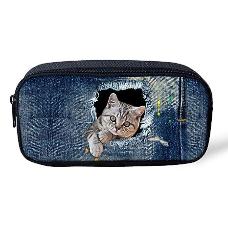 Amazon.com: mumeson Denim Diseño de animales estuche para ...