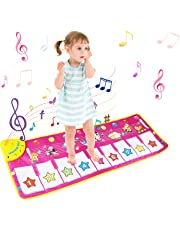 BelleStyle Children's Musical Toys, Baby Musical Game Carpet Mat Musical Instrument Toy Touch Play Keyboard Gym Play Mat for Kids (Purple)