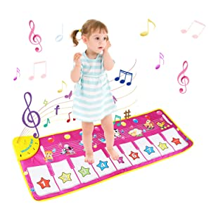 Tappeto Musicale Bambini, BelleStyle Bambino Piano Playmat Strumento Musicale Tocca la tastiera...