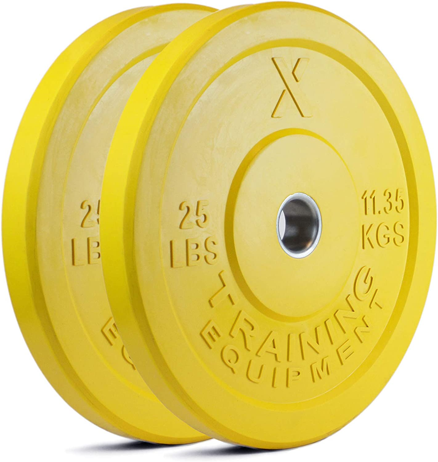 X Training Equipment Premium Color Bumper Plate Solid Rubber with Steel Insert – Great for Crosstraining Workouts