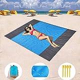 Goodstuffshop Sand Free Beach mat, Quick Drying Ripstop Nylon Compact Outdoor Beach Blanket Best Sand Proof Picnic Mat…