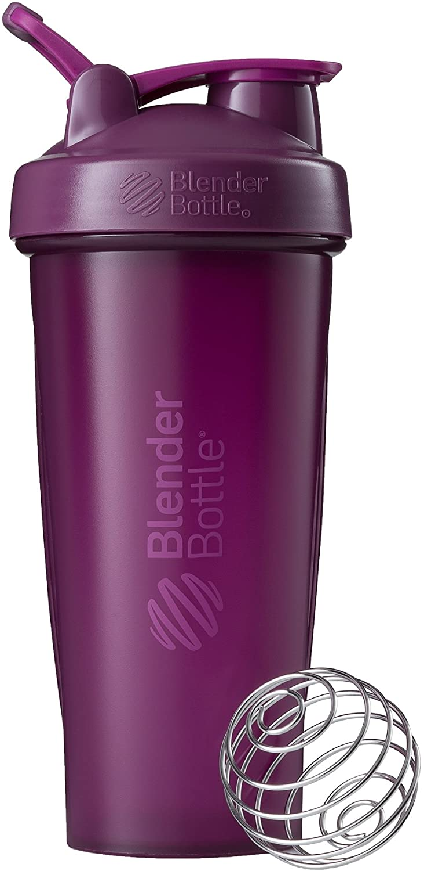 BlenderBottle Classic Loop - Botella Mezcladora de Batidos de proteínas con batidor Blenderball 820 ml