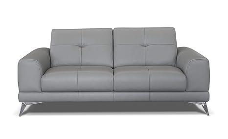 Alkove, divano in pelle modello Aldan, stile moderno, maxi 2 posti ...