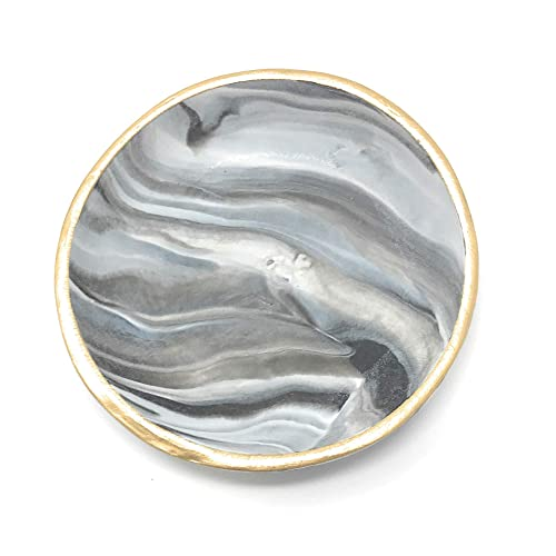 Silver and gold marble handmade clay ring dishes