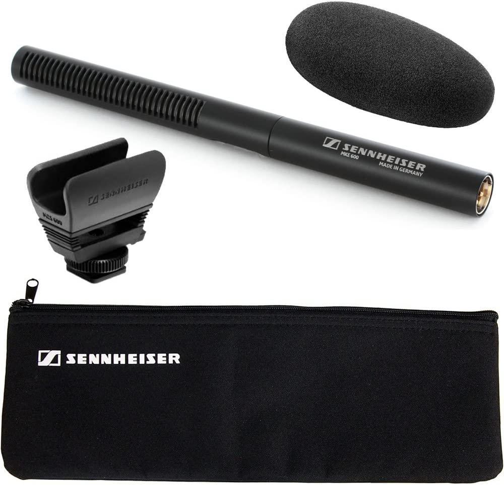 Sennheiser MKE-600 Shotgun Camcorder Microphone with Sennheiser KA600 Adapter Cable
