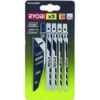 Ryobi Sticksågsblads-set RAK05JSBFC 5 delar (5 x sticksågsblad) för alla sticksågar i Ryobi serien – 5132002697