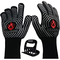 ASADOR BBQ Grill Gloves with Meat Claws-1472℉ Extreme Heat Resistant -Silicone Insulated Oven Mitts-an essential to…