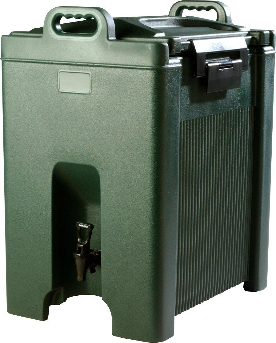 Carlisle XT1000008 Cateraide Insulated Beverage Server/Dispenser, 10 Gallon, Forest Green