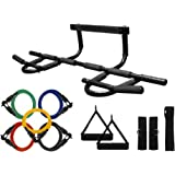 Wacces Chin up Pull up Bars and Resistance Bands Perfect to Use with P90x and Any Other Fitness Program.