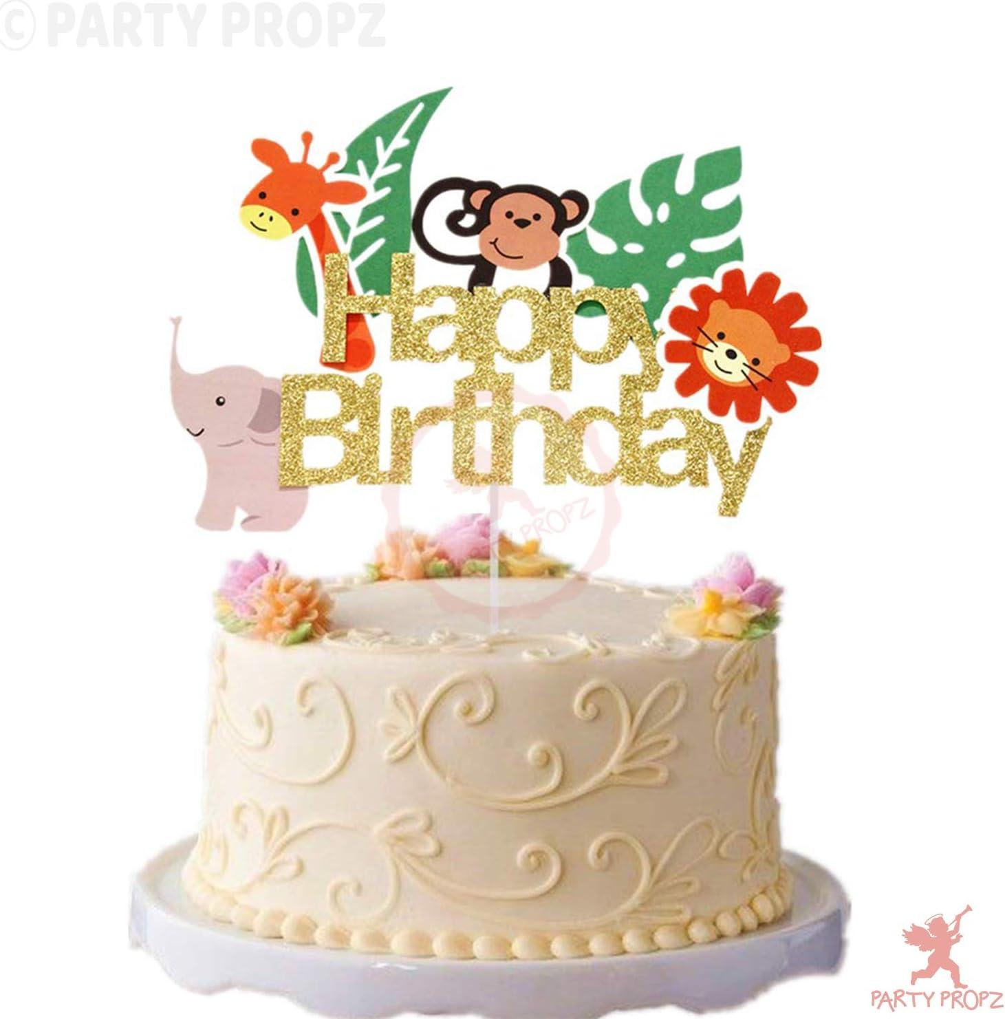 Glitter Jungle Cake Topper/Animal Cake Topper for Jungle ...