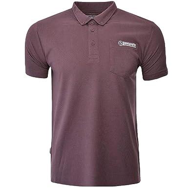 SALE Lambretta Mens Black Classic Target Short Sleeve Polo Pique Tee Shirts