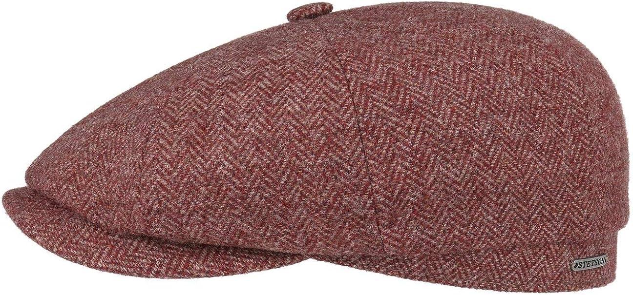 Forro oto/ño//Invierno Stetson Gorra Hatteras Classic Wool Hombre Forro Made in The EU Newsboy de Lana con Visera