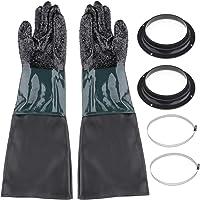 MagiDeal 600 Mm Lange Zandstraalhandschoenen Handschoenen Voor Zandstralen Cabine Zandstralen Bescherming Vijver…