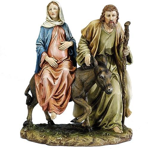 Joseph s Studio 10 La Posada The Lodging Figure-Joseph with Mary Riding on Donkey on Their Way to Bethlehem
