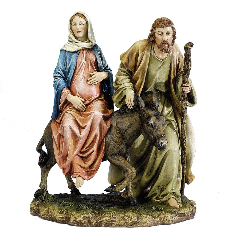 Joseph's Studio 10'' La Posada The Lodging Figure-Joseph with Mary Riding on Donkey on their way to Bethlehem