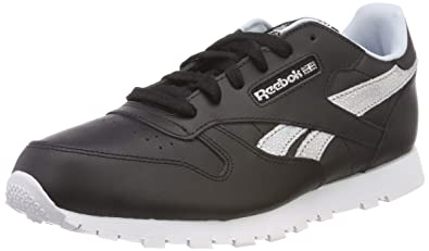 fe4acdb5e109d Reebok Unisex-Kinder Classic Leather Sneaker Schwarz (Black Dreamy Blue Tin  Grey