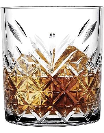 Pasabahce 52790 Whisky Tumbler Timeless de Cristal en Cristal de diseño, Altura 9,6