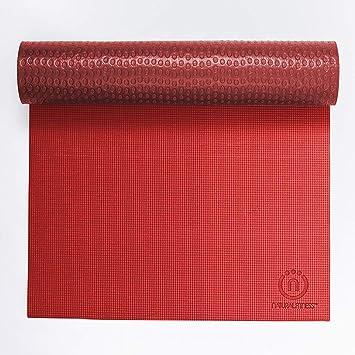 Natural Fitness Warrior Yoga Mat, Crimson/Bordeaux