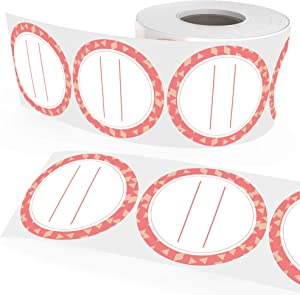 Canning Supply Labels Fully Dissolvable for Mason Jar Lids and More - Coral (2