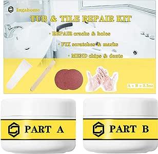 Tub, Tile and Shower Repair Kit Fiberglass Repair Kit For ...
