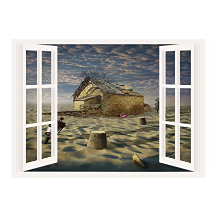 Sensational Amazon Com Scocici Creative Window View Home Decor Wall Download Free Architecture Designs Embacsunscenecom