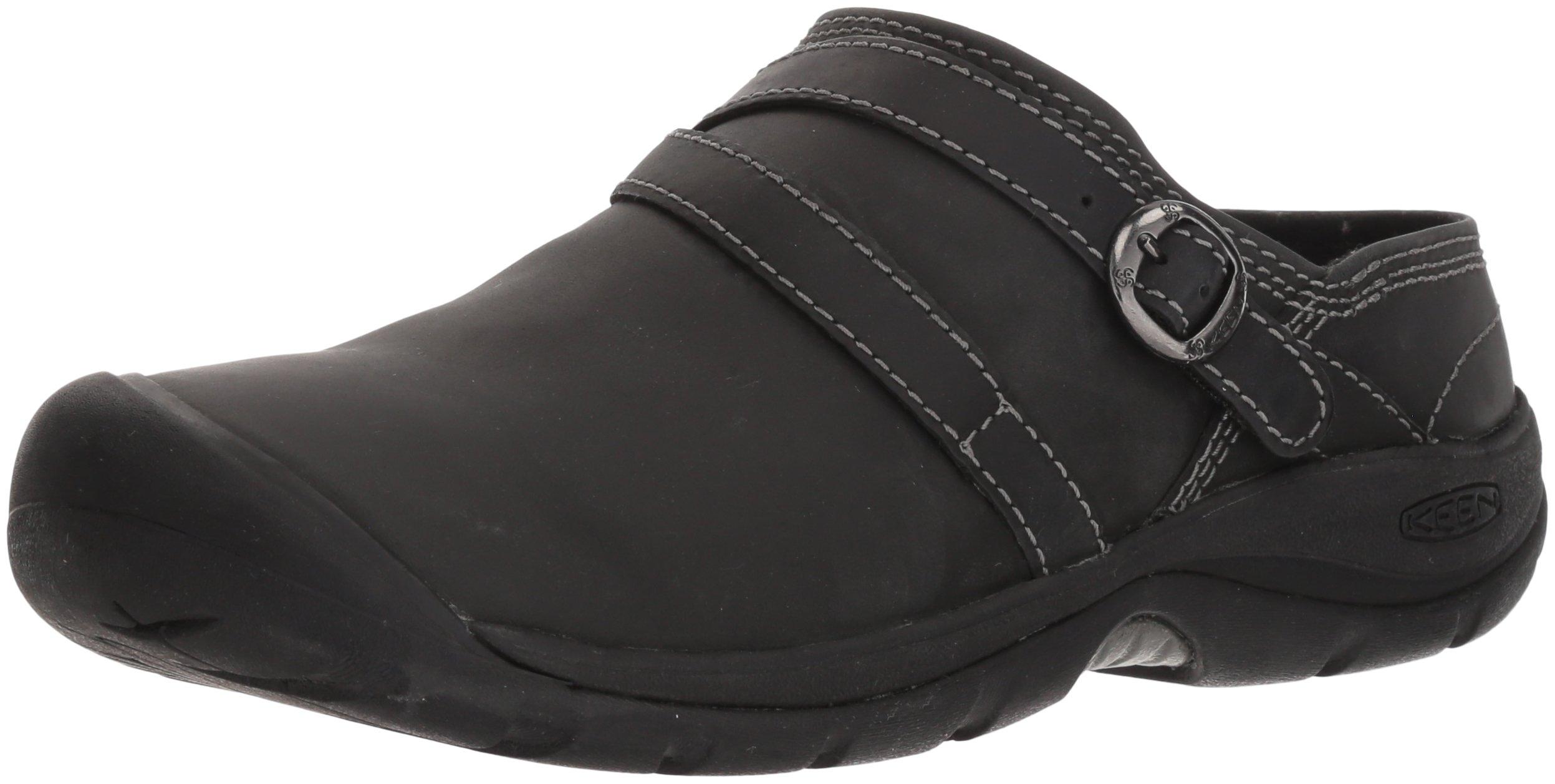 KEEN Women's Presidio II Mule-W Hiking Shoe, Black/Steel Grey, 9 M US by KEEN