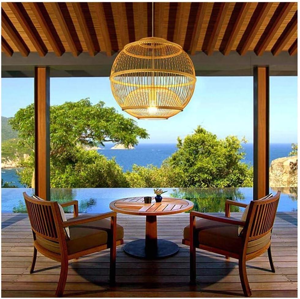 Wlgt Asia sudoriental Arte de bambú Creativo Ratán Bambú Linterna ...