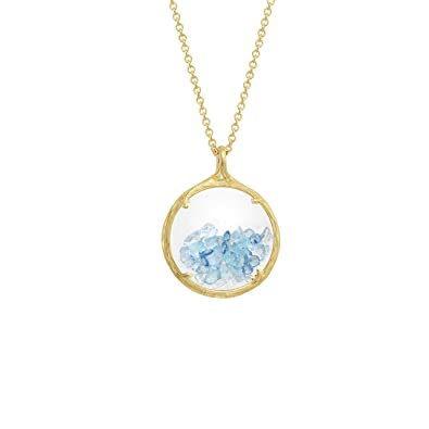 Catherine Weitzman Shaker Birthstone Pendant Necklace, March