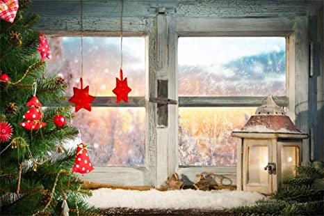 Christmas Window.Amazon Com Csfoto 10x7ft Background Atmospheric Christmas