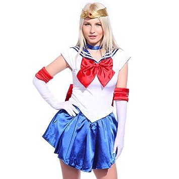 Maboobie - DIsfraz de Guerrera Luna de Sailor Moon para adulto Carnaval Halloween Fiesta Temática (