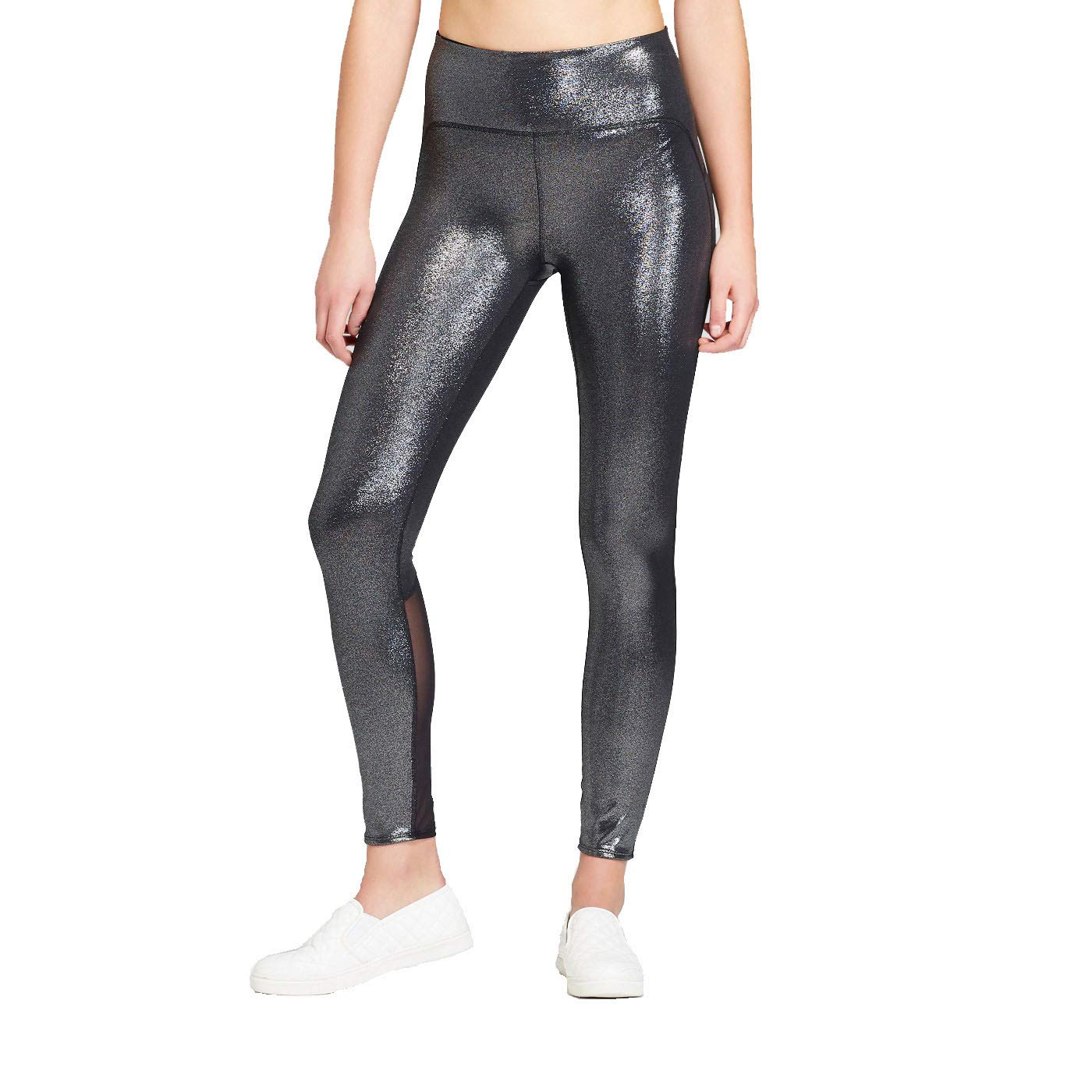 1e22fca3ca30e JoyLab Women's High-Waisted 7/8 Shine Leggings Black at Amazon Women's  Clothing store: