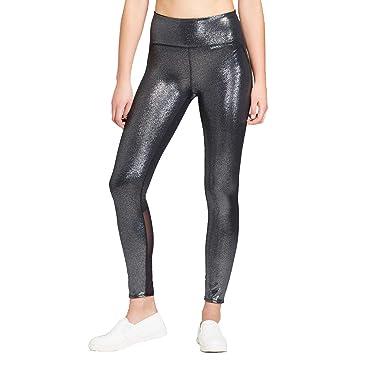 d0a42723f701f JoyLab Women's High-Waisted 7/8 Shine Leggings Black at Amazon ...
