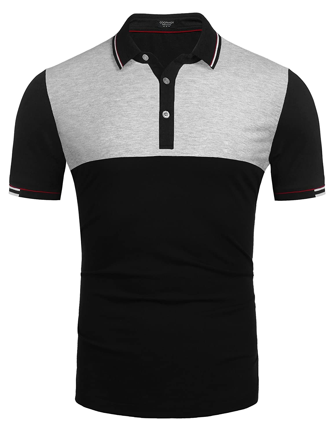 48f109c9e High quality lightweight cotton poly blen fabric provides you breathable  and comfortable wearing experience all time. Cool polo shirt design in slim  fit
