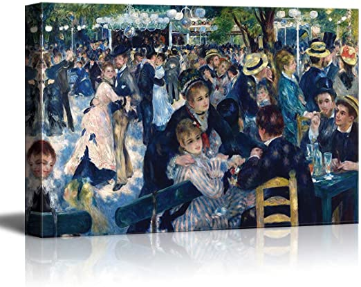 Dance at Le Moulin de la Galette Vintage Fine Art Print Pierre Auguste Renoir