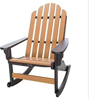 product image for Nags Head Hammocks Classic Adirondack Rocker, Black and Cedar