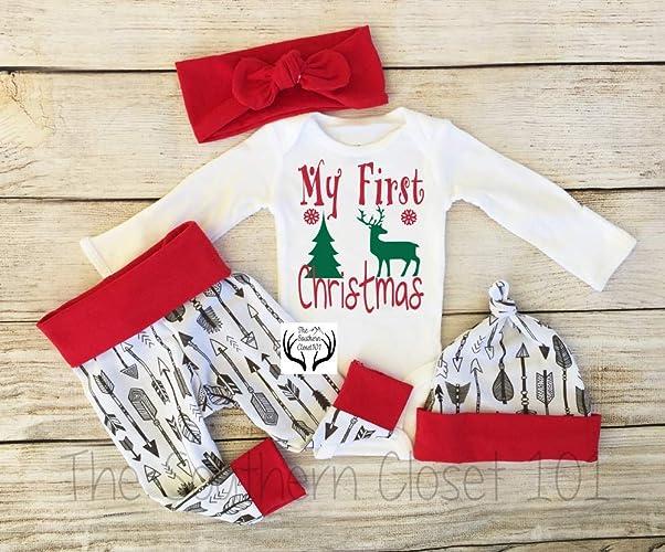 24074e2e1a7b4 Amazon.com  Baby Girl Christmas Outfit