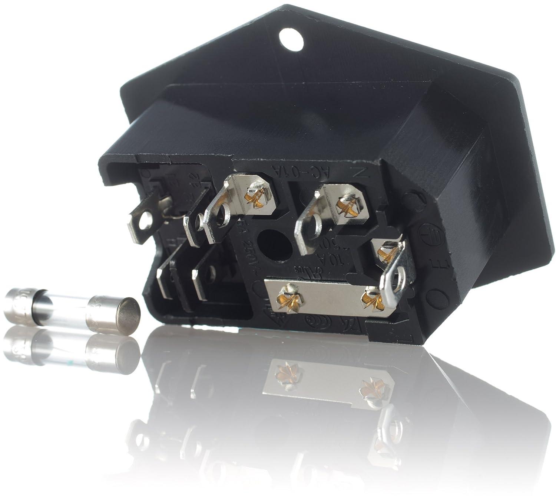 2x Hifi Lab Kaltgeräte Einbau-Stecker: Amazon.de: Elektronik