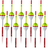 Sumind 10 Pieces Fishing Floats Balsa Wood Floats Oval Stick Floats Slip Bobbers for Fishing Tackle Accessories