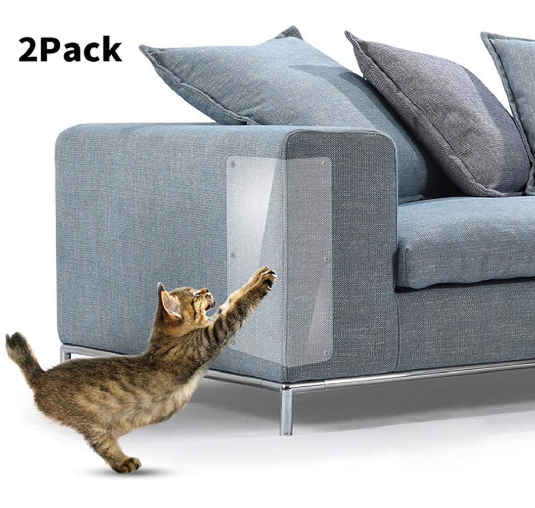 Huphoon 2Pcs Pet Cat Scratch Guard Mat Cat Scratching Post Furniture Sofa Protector PVC self-Adhesive Sturdy Pads 47x15cm