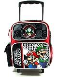 Super Mario petite taille rouleau de 30cm de sac de roulement sac à dos noir Puissance Joueurs - Bagages à roulettes