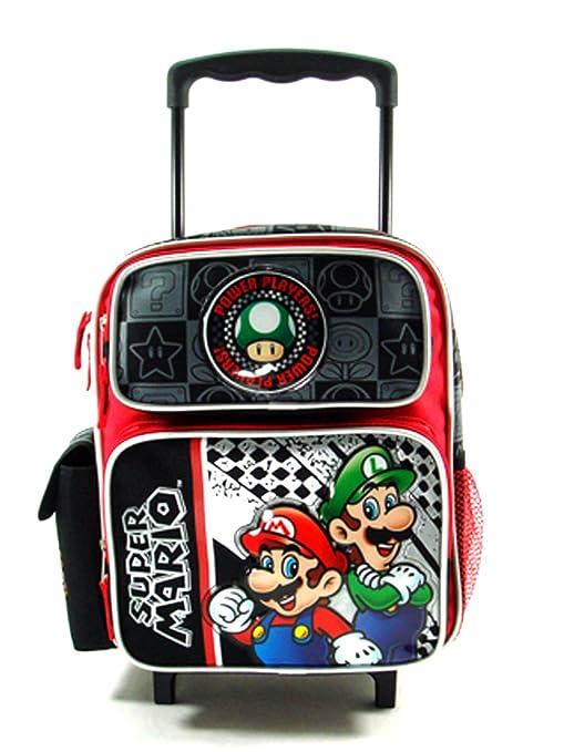 pequeña Power Players Super Mario Mochila portatil con rueda