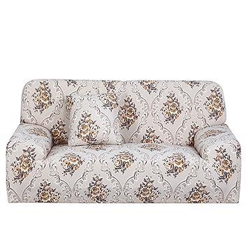 Amazon.com: ZealMax Funda de sofá elástica Funda de sofá de ...